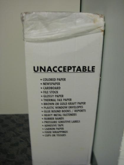 Unacceptable